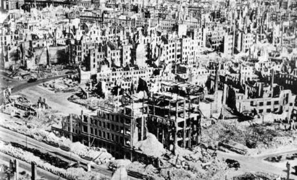 Die Zerstörung nach dem Feuersturm.